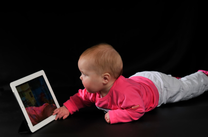 Baby and electronic picture frame